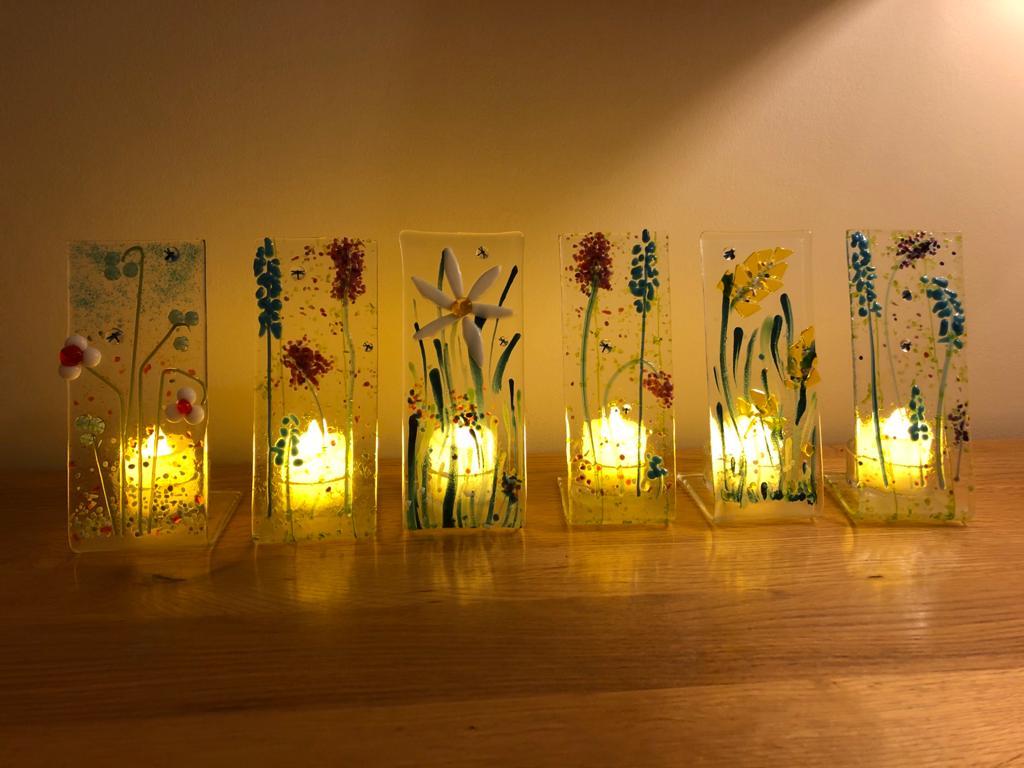 Spring tea-light line-up